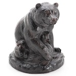 Joseph Boulton Bronze Sculpture of Bear and Cubs