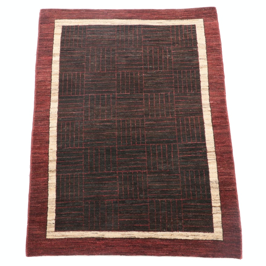 3'10 x 5'7 Hand-Knotted Istanbul Handcrafted Wool Rug