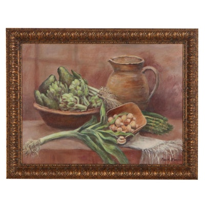 Mary H. Stoecker Still Life Oil Painting, 20th Century