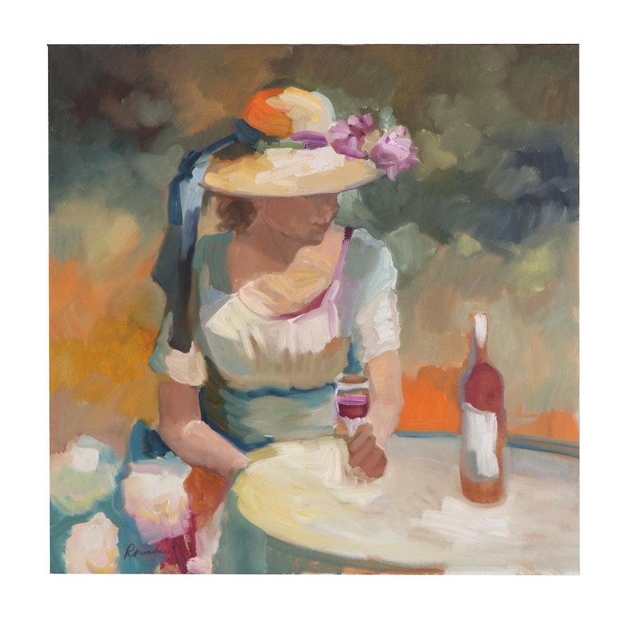 Sally Rosenbaum Portrait Oil Painting, 21st Century