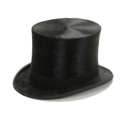 Knox New York for H.A. Morgan Co. Black Beaver Felt Top Hat