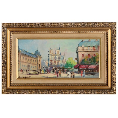 Impressionist Style Cityscape Oil Painting, 20th/21st Century