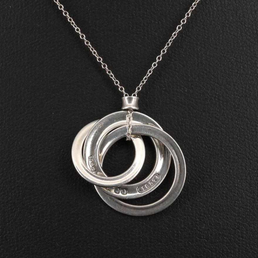 Tiffany & Co. Sterling Silver '1837' Interlocking Circles Pendant Necklace