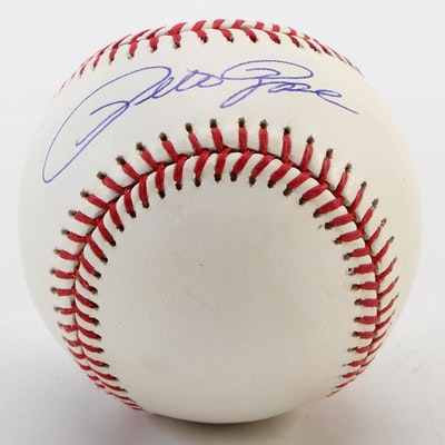Pete Rose Signed Rawlings Major League Baseball