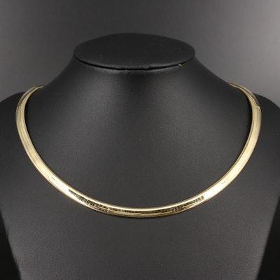 14K Omega Choker Necklace