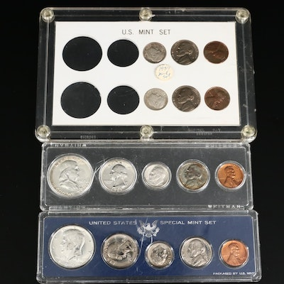 Three US Mint Full and Partial Coin Sets