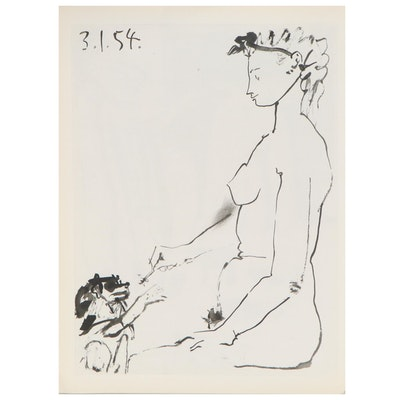 """Double-Sided Rotogravure after Pablo Picasso for """"Verve"""", 1954"""