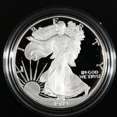 1989-S American Silver Eagle $1 Proof Bullion Coin