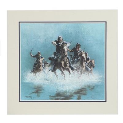 """Frank C. McCarthy Offset Lithograph """"Saber Charge,"""" 1988"""