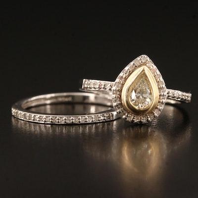 14K Diamond Matching Ring Set