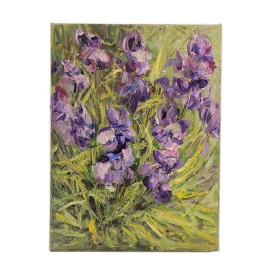 "Garncarek Aleksander Floral Oil Painting ""Irysy"", 2020"