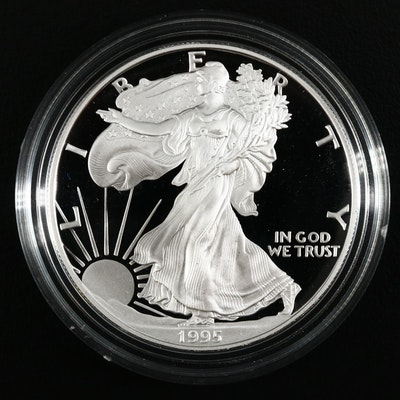 Better Date 1995-P American Silver Eagle $1 Proof Bullion Coin