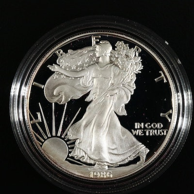 1986-S American Silver Eagle $1 Proof Bullion Coin