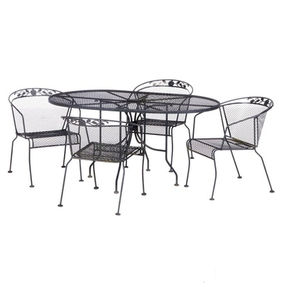 Metal Mesh Patio Dining Set, Late 20th Century