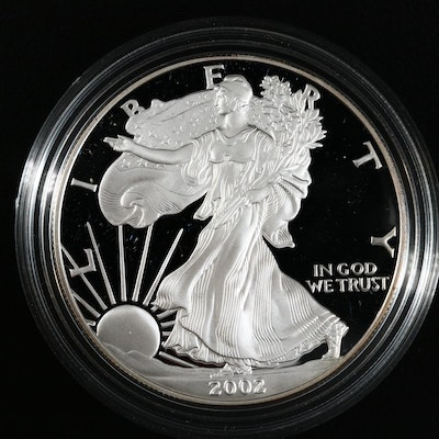 2002-W American Silver Eagle $1 Proof Bullion Coin