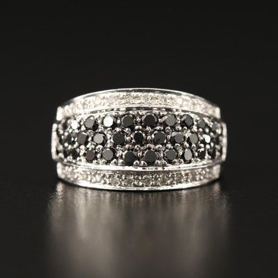 14K 1.00 CTW Diamond Ring Featuring Black Diamonds