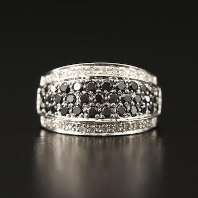 14K 1.00 CTW Diamond Ring Featuring Black Diamonds