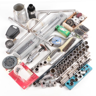 Hand Tools Including Craftsman Torque Wrench, Sockets, Die Grinder, and More