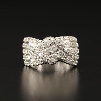 14K 1.13 CTW Diamond Twist Ring