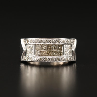 14K Diamond Ring with Illusion Settings