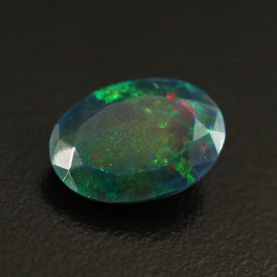 Loose 2.00 CT Oval Faceted Opal