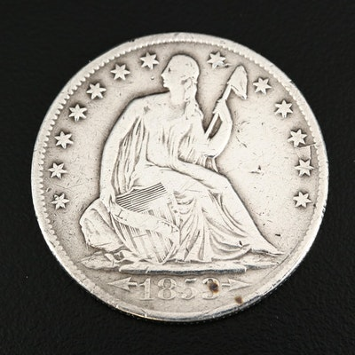 "1853-O Seated Liberty ""Arrows and Rays"" Silver Half Dollar"