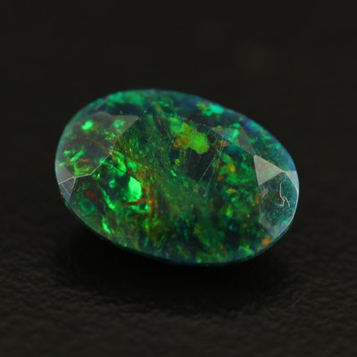 Loose 1.27 CT Oval Faceted Opal