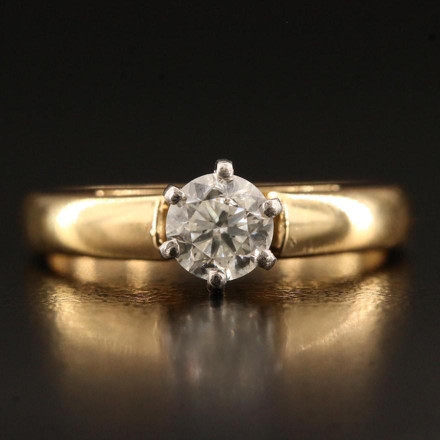 18K 0.58 CT Diamond Solitaire Ring