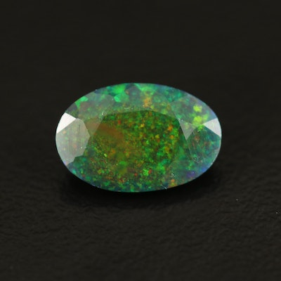 Loose 1.14 CT Oval Faceted Opal