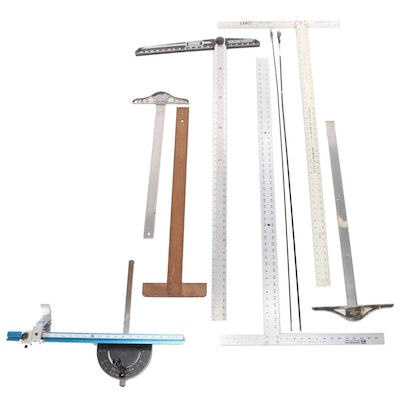 Hand Tools Including Heavy Duty Aluminum T-Square, Cable Bits, and More