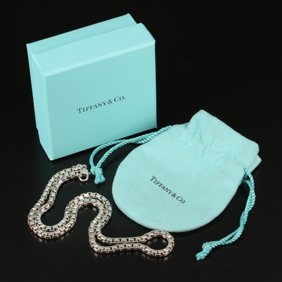 Tiffany & Co. Sterling Box Chain Necklace