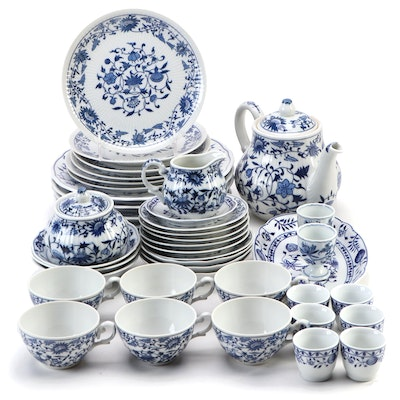"Kahla ""Blue Onion"" and Other Porcelain Dinner and Serveware"
