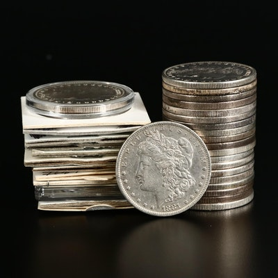 Thirty-Three Morgan Silver Dollars, 1878–1921