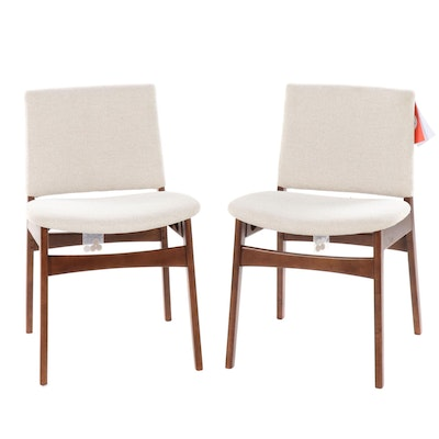 "Pair of Article ""Nosh"" Danish Modern Style Upholstered Side Chairs"
