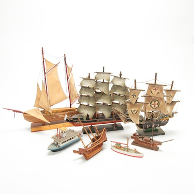 Santa Maria, Cutty Sark, and Other Model Ships