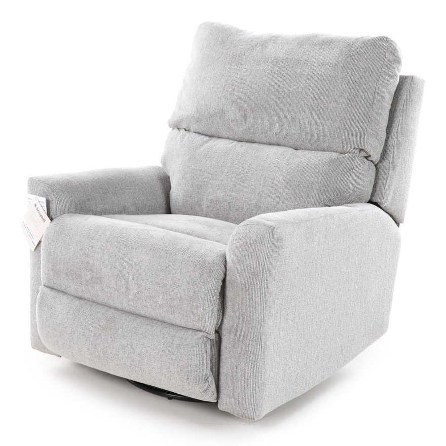 Broyhill Claremont Upholstered Swivel Reclining Arm Chair, Contemporary