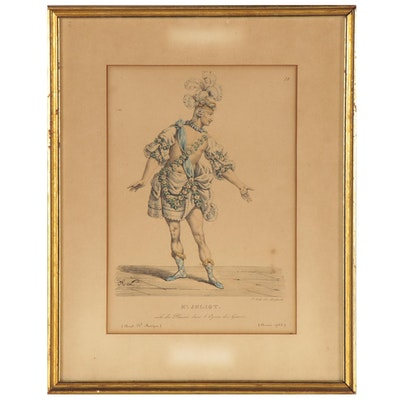 """François-Séraphin Delpech Lithograph """"Mr. Jeliot.,"""" 19th Century"""