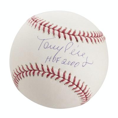 Tony Perez Signed Hall of Fame Rawlings Baseball, Tristar COA