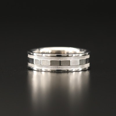 14K Band with High Polish Accents