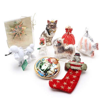 Kurt Adler Poodle Ornament with Other Animal and Novelty Christmas Ornaments