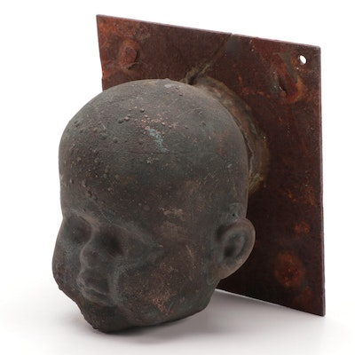 Victorian Doll Head Casting Mold, Late 19th to Early 20th Century
