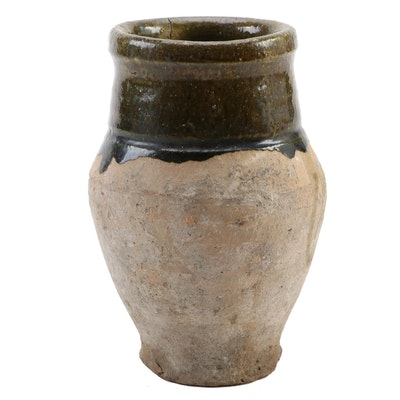 Salt Glazed Stoneware Crock, Early 20th Century