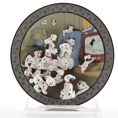 """101 Dalmatians """"Watch Out, Thunder!"""" Ceramic Plate Including COA"""