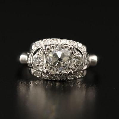 Vintage Platinum 1.64 CTW Diamond Ring
