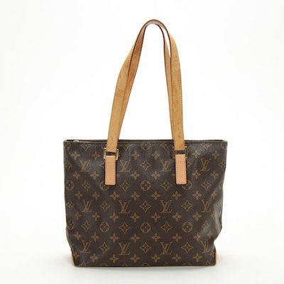 Louis Vuitton Cabas Piano Tote in Monogram Canvas and Vachetta Leather