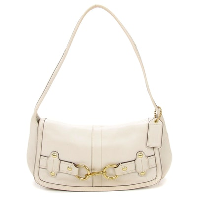 Coach White Leather Shoulder Bag