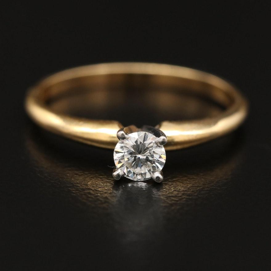 14K 0.25 CT Diamond Solitaire Ring