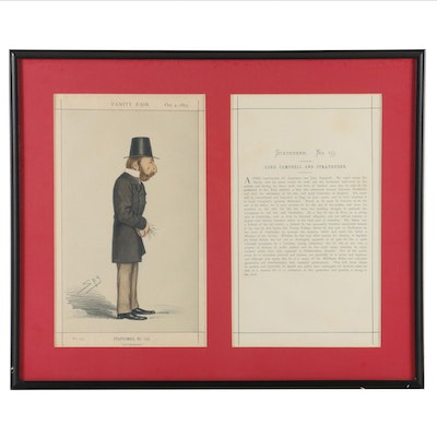 "Leslie Ward ""Spy"" Chromolithograph ""and Stratheden"" for ""Vanity Fair"", 1873"