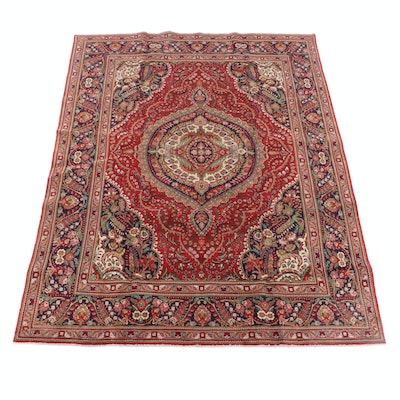 8'0 x 11'5 Hand-Knotted Persian Isfahan Wool Rug