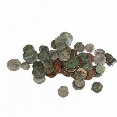 FIfty Ancient Roman Imperial Bronze Coins, ca. 200-400 A.D.